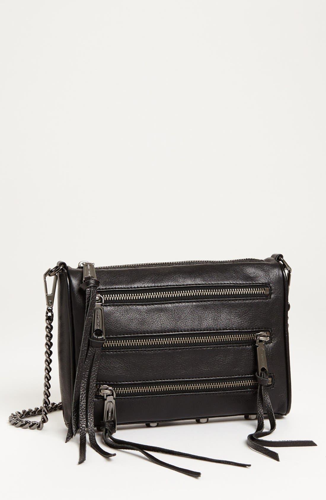 Main Image - Rebecca Minkoff '5 Zip - Mini' Crossbody Bag