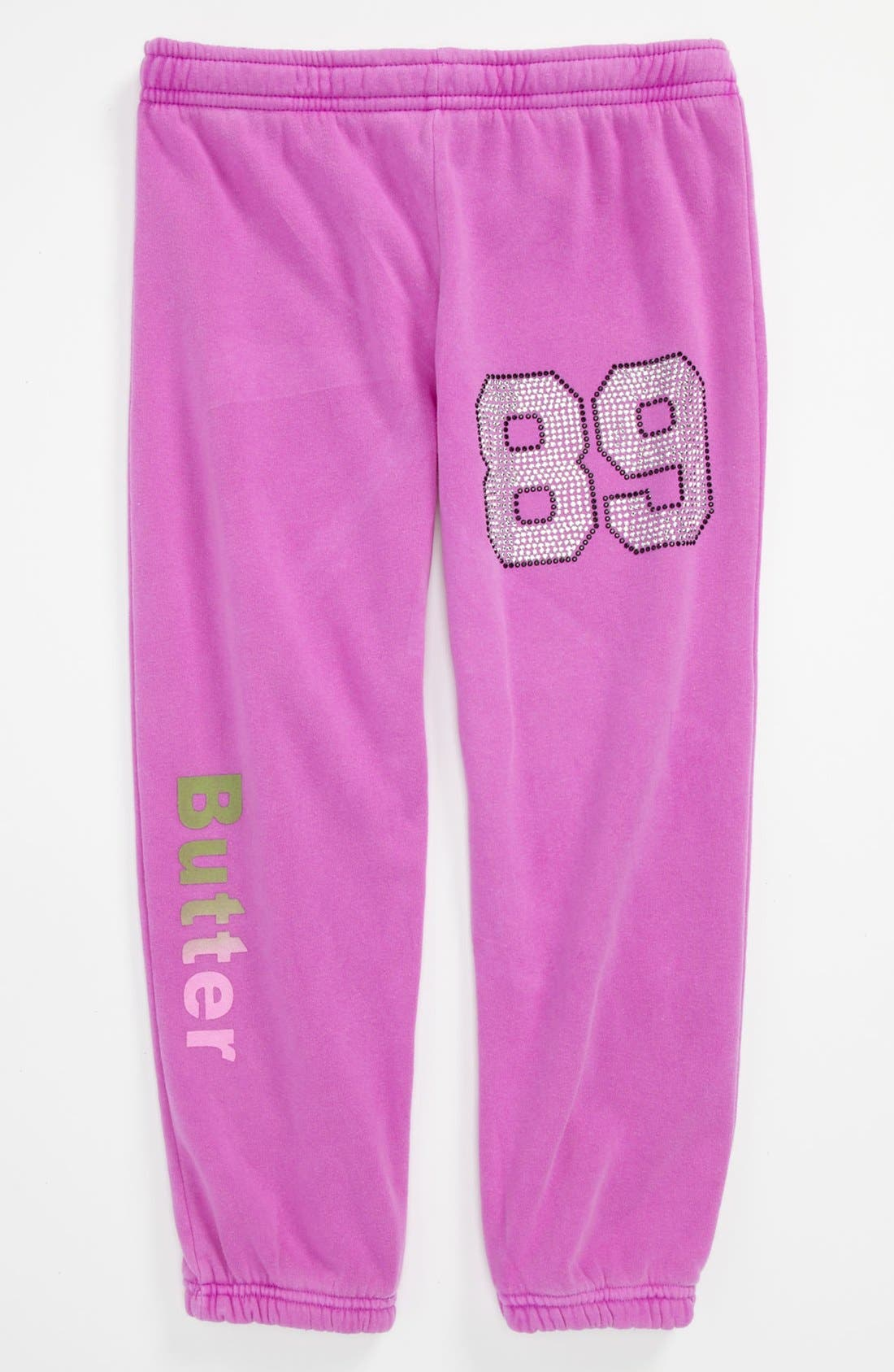 Alternate Image 1 Selected - Butter Supersoft 'Football' Pants (Big Girls)