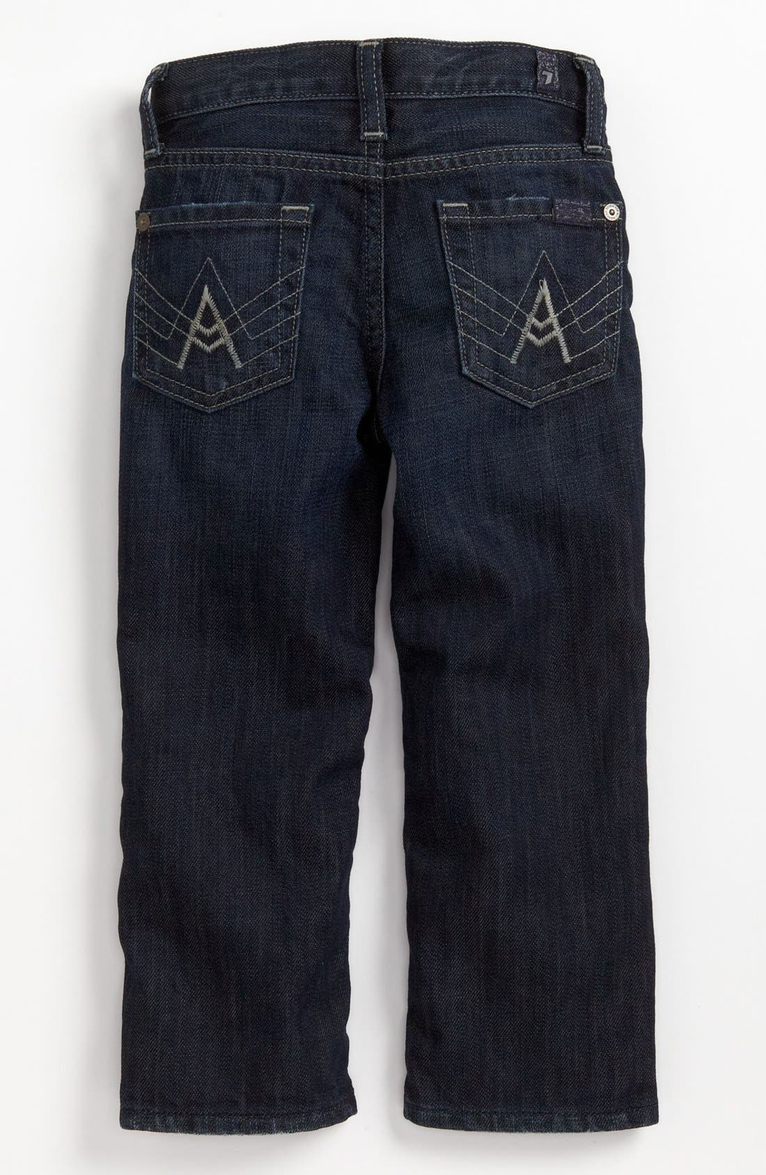 Main Image - 7 For All Mankind® 'Standard' Straight Leg Jeans (Toddler Boys) (Online Only)