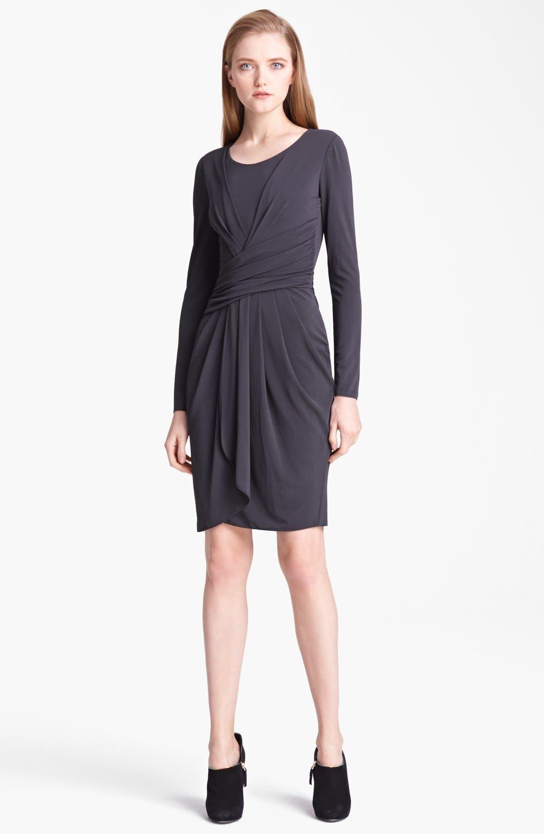 Main Image - Armani Collezioni Drape Front Jersey Dress