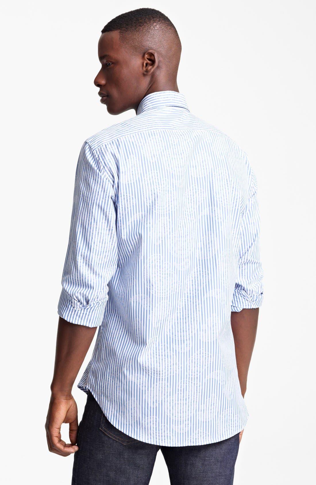 Alternate Image 2  - Etro Stripe Paisley Print Cotton Sport Shirt