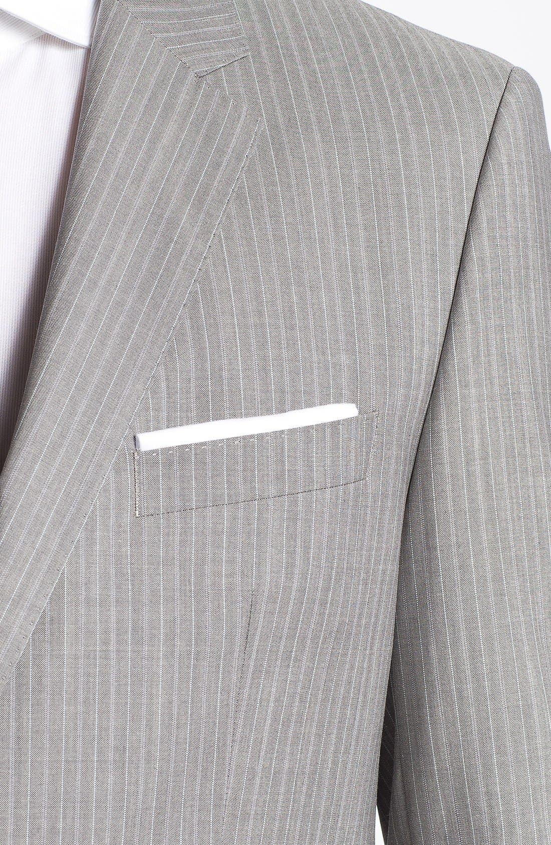 Alternate Image 2  - BOSS HUGO BOSS 'The Sweet/Sharp' Trim Fit Stripe Suit