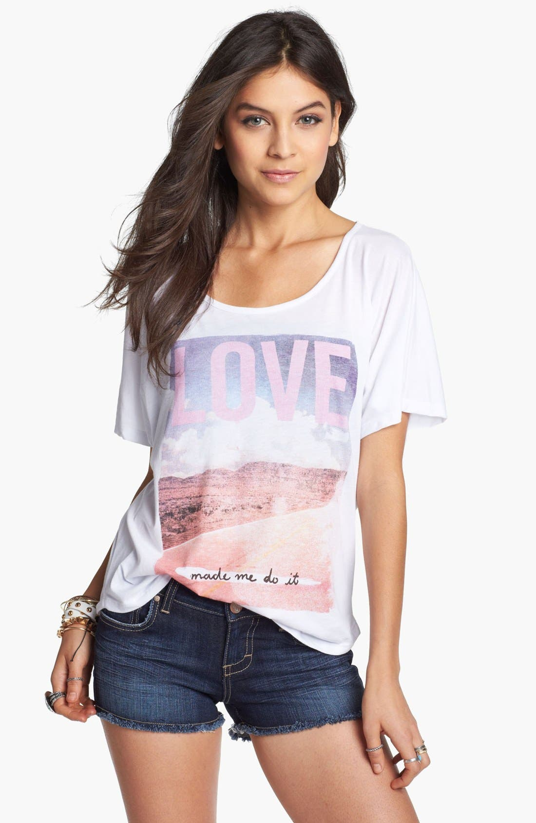 Alternate Image 1 Selected - Malibu Native 'Love Made Me Do It' Tee (Juniors)