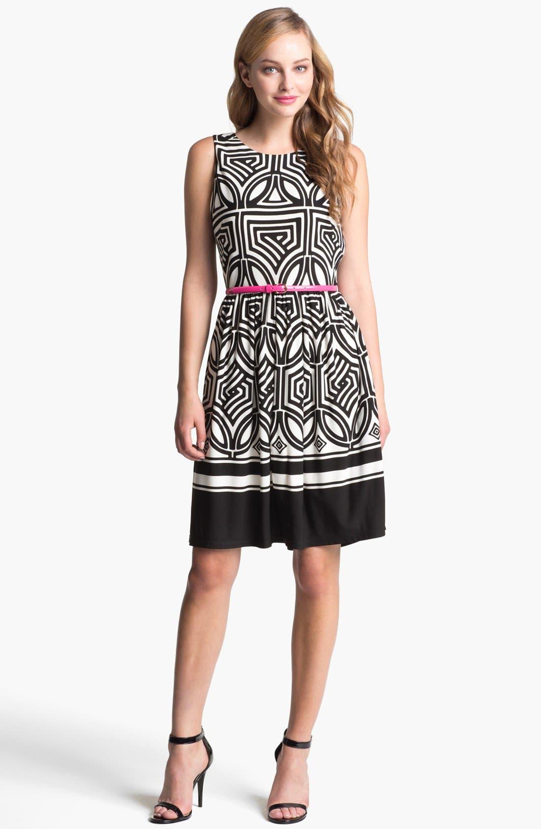 Main Image - Eliza J Stretch Fit & Flare Dress