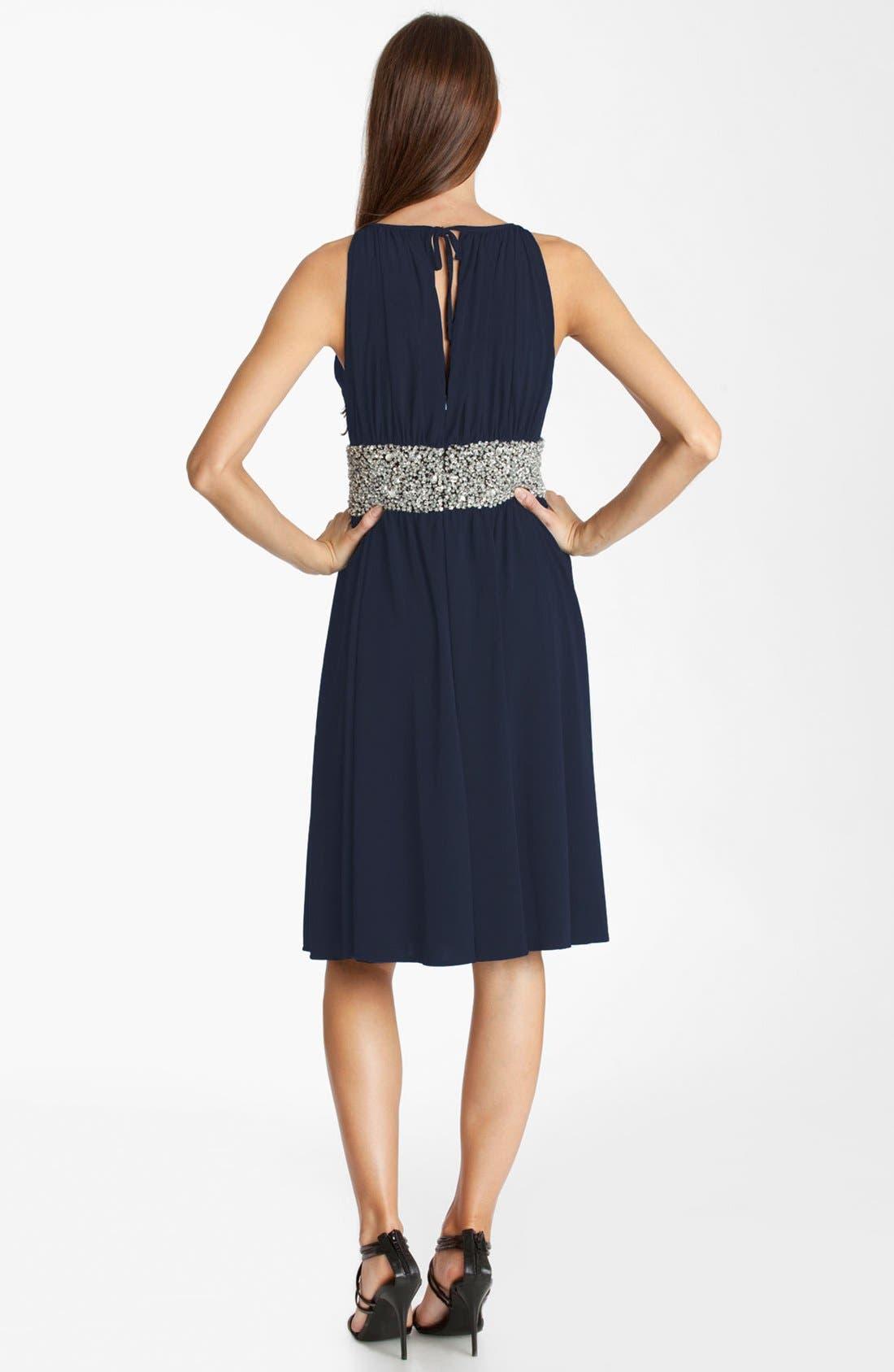 Alternate Image 2  - JS Boutique Embellished Ruched Jersey Dress (Petite)