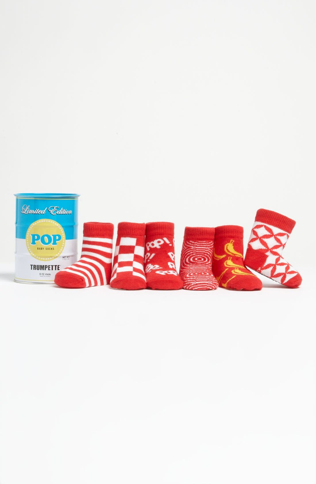 Main Image - Trumpette 'Pop Socks in a Tin Can' Sock Set (6-Pack)(Baby Boys)