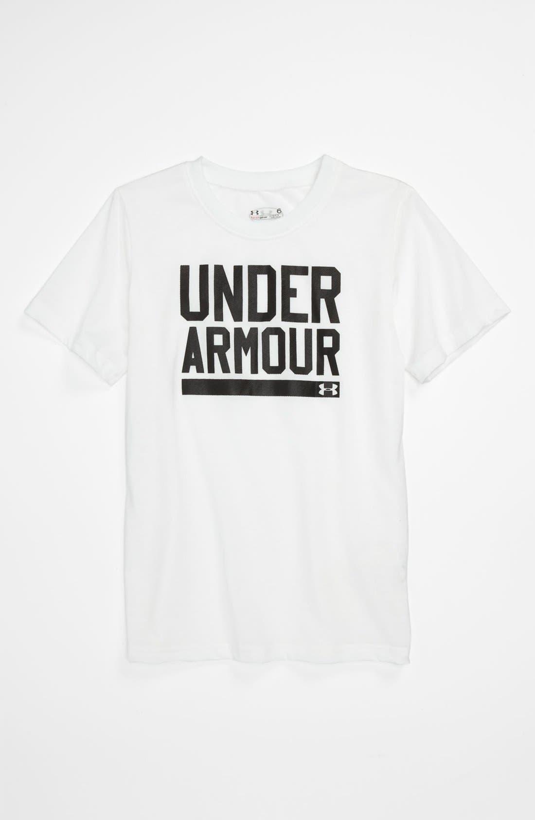 Alternate Image 1 Selected - Under Armour 'Branded' T-Shirt (Little Boys)
