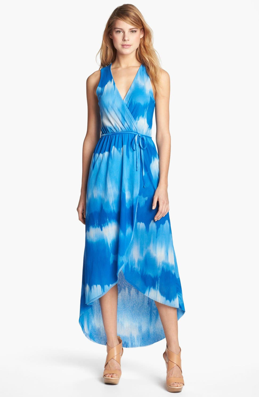 Main Image - Sweet Pea by Stacy Frati Print Surplice Dress