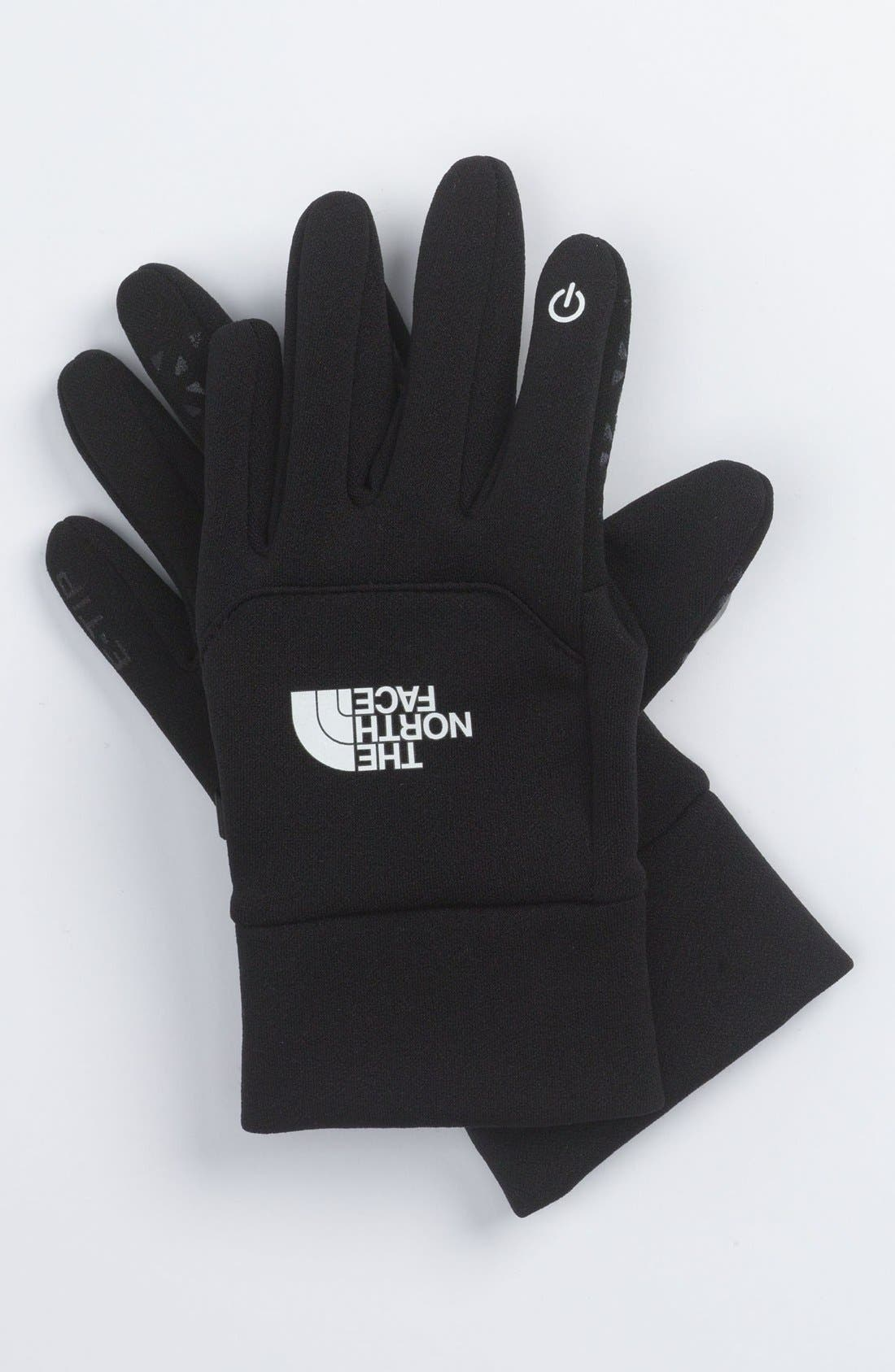 'eTip' Gloves,                             Main thumbnail 1, color,                             Black