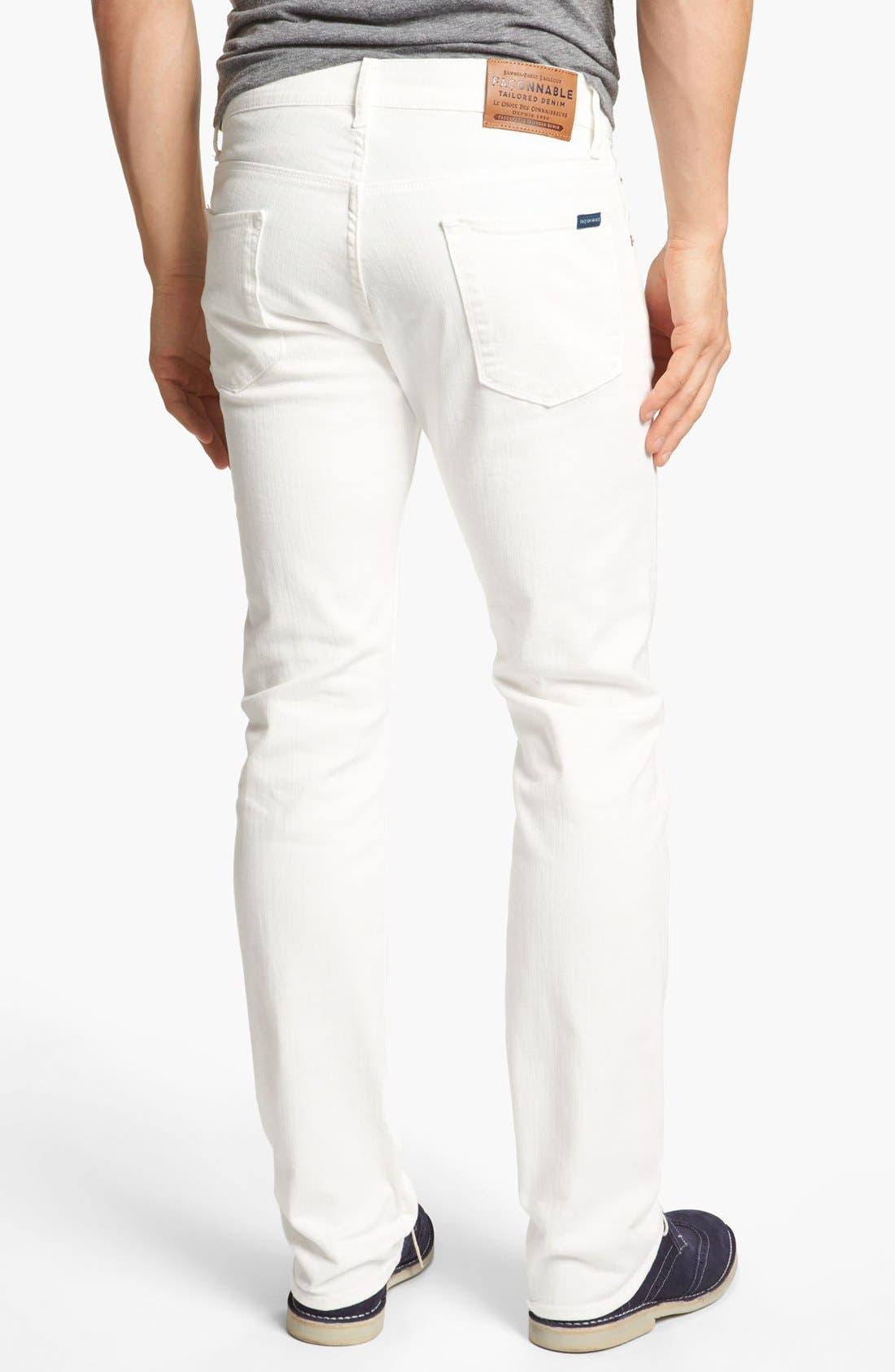 Alternate Image 2  - Façonnable Tailored Denim Straight Leg Jeans