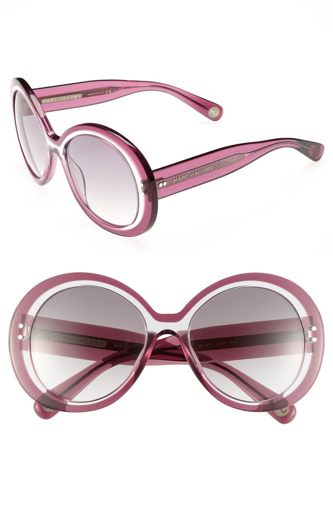 Main Image - MARC JACOBS 55mm Oversized Sunglasses