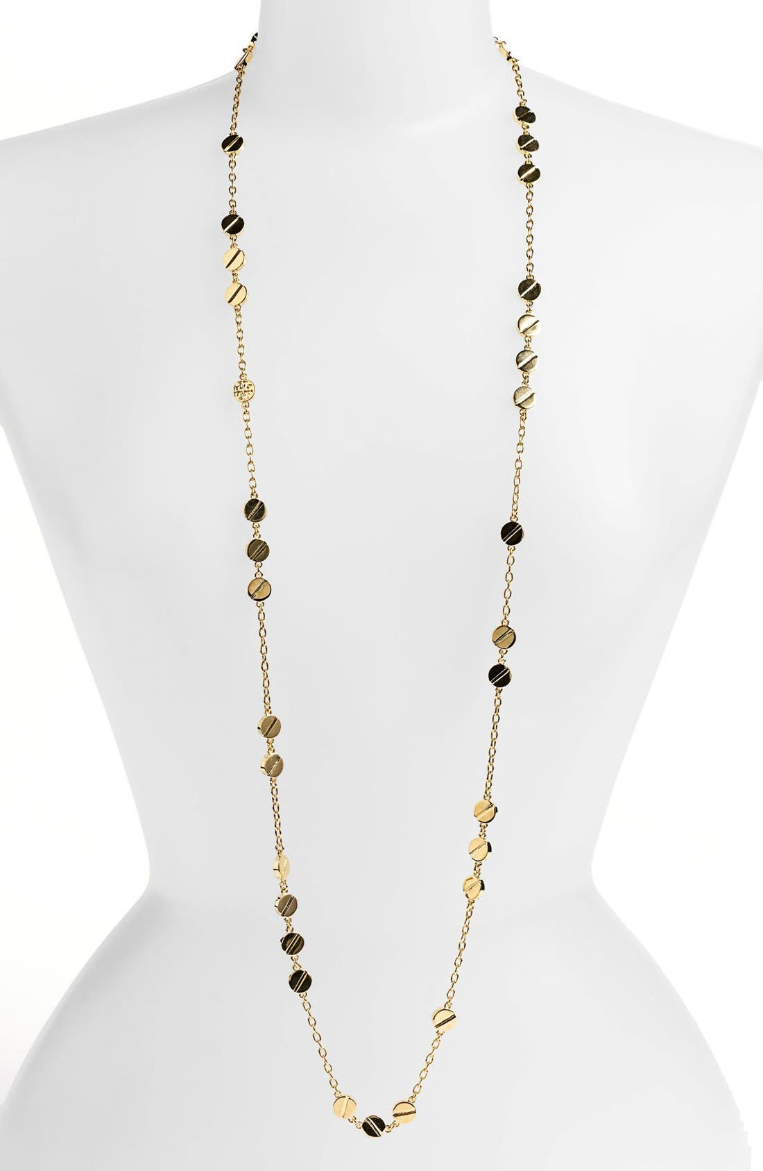 Main Image - Tory Burch 'Screw Rivet' Extra Long Station Necklace