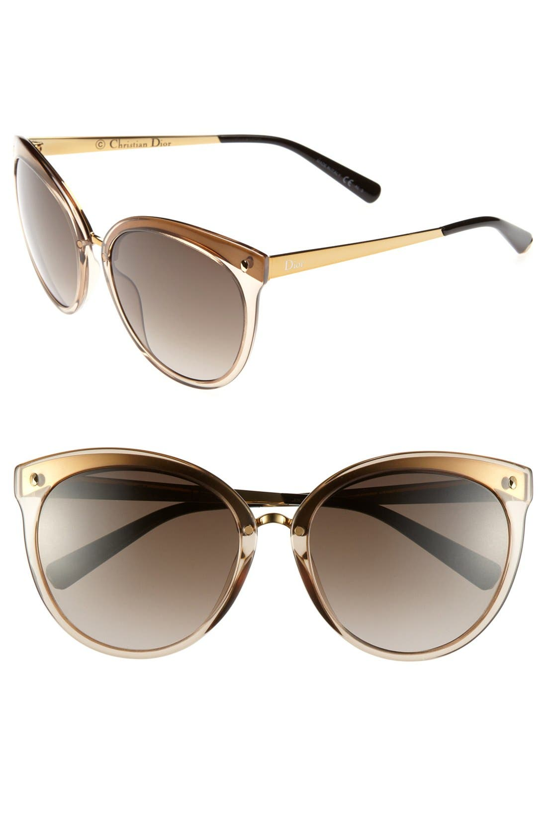 Main Image - Dior 'Frozen' 56mm Sunglasses