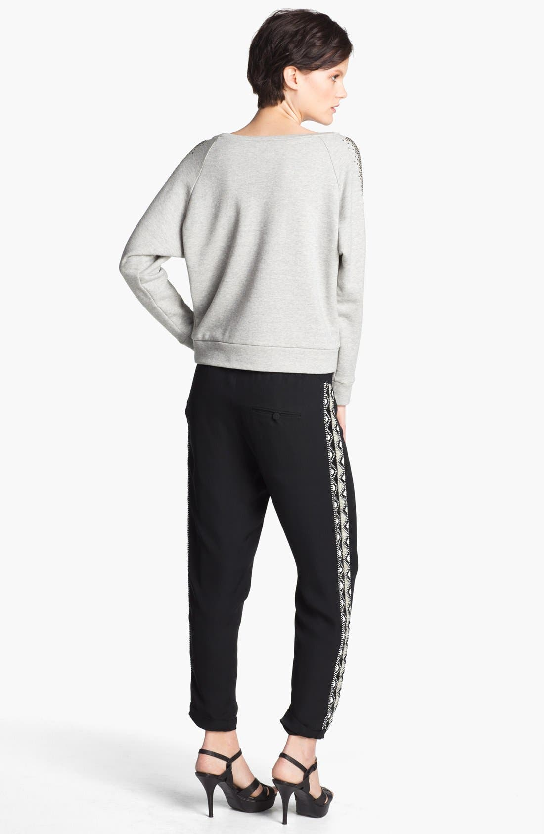 Alternate Image 5  - Haute Hippie Studded French Terry Sweatshirt