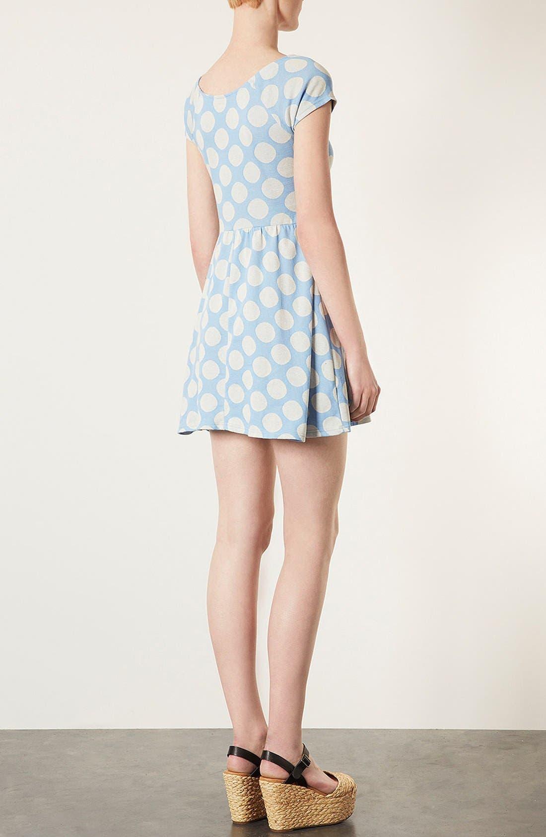 Alternate Image 2  - Topshop Polka Dot Tunic Dress