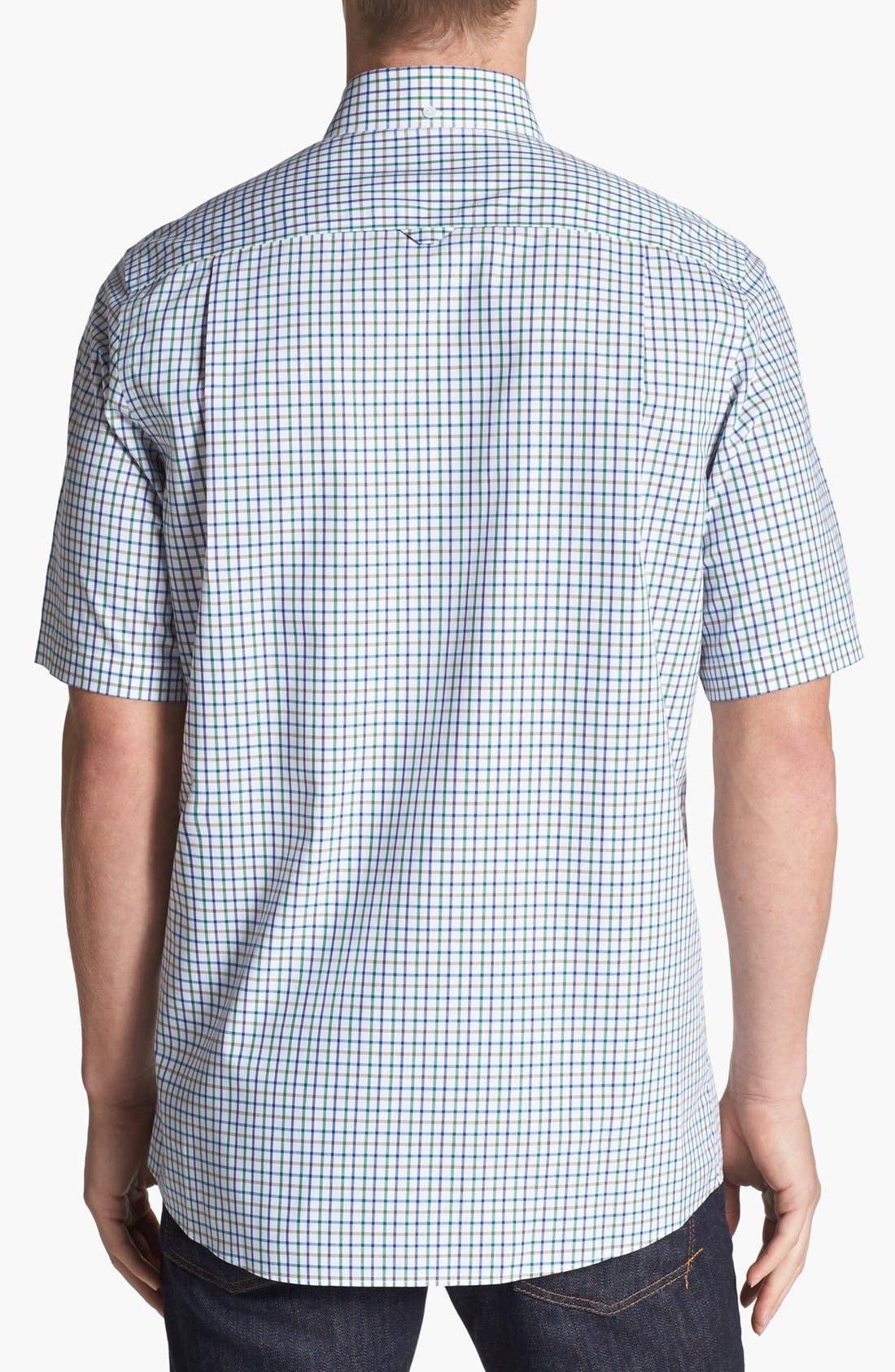 Alternate Image 2  - Nordstrom Smartcare™ Short Sleeve Poplin Sport Shirt