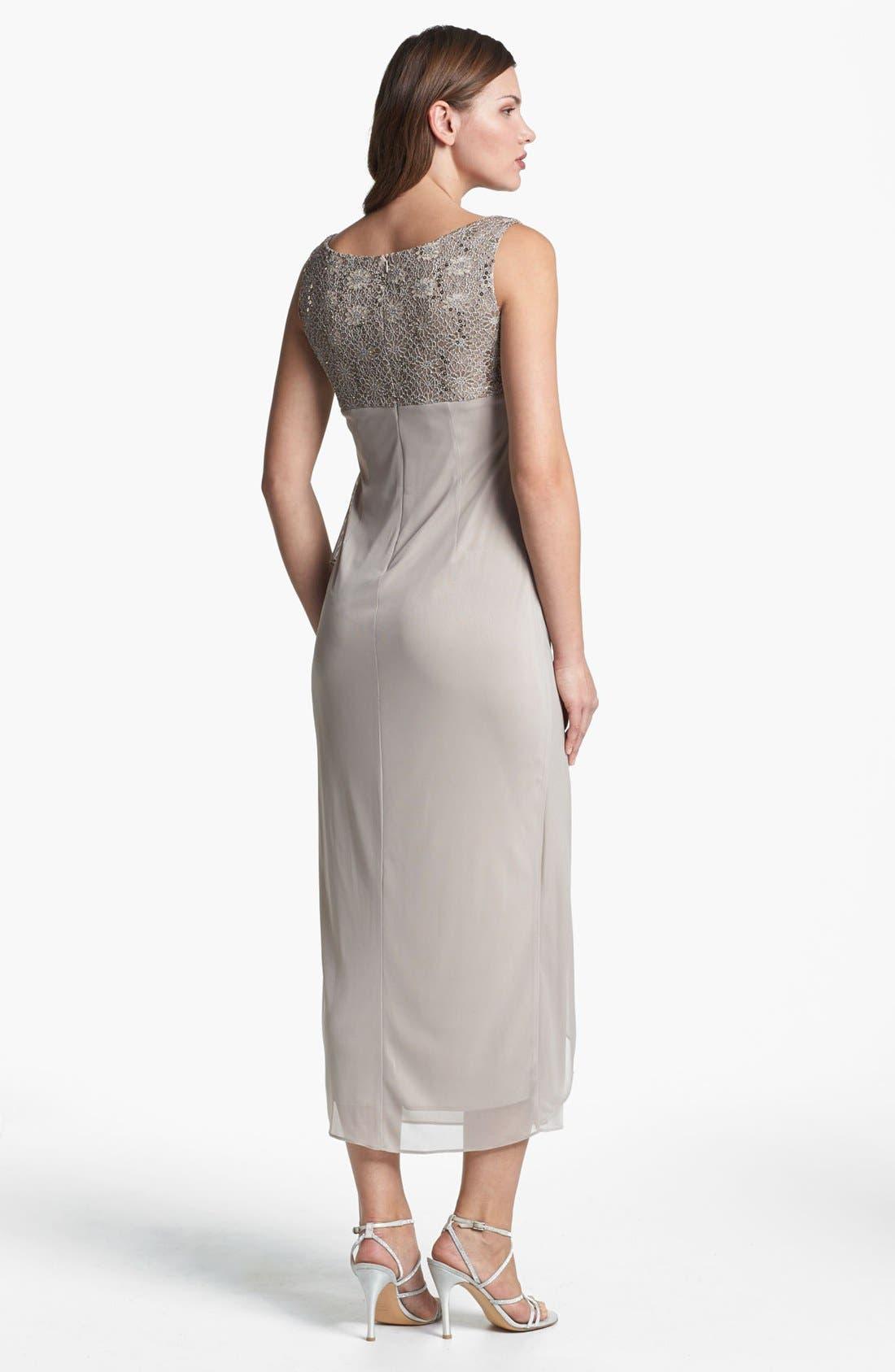 Alternate Image 3  - Alex Evenings Ruched Dress & Bolero (Petite)