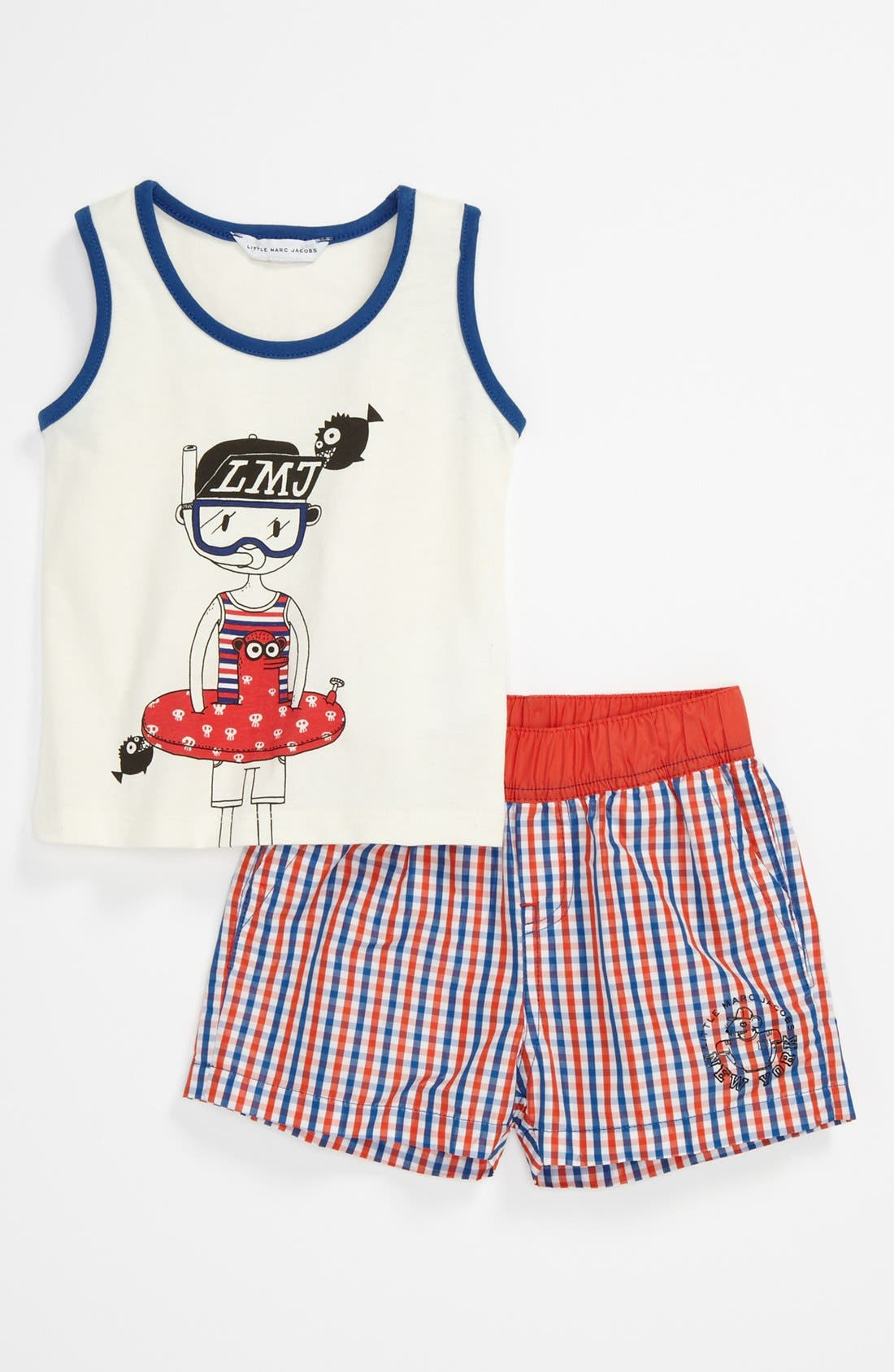 Alternate Image 1 Selected - LITTLE MARC JACOBS Tank & Swim Short Set (Toddler)