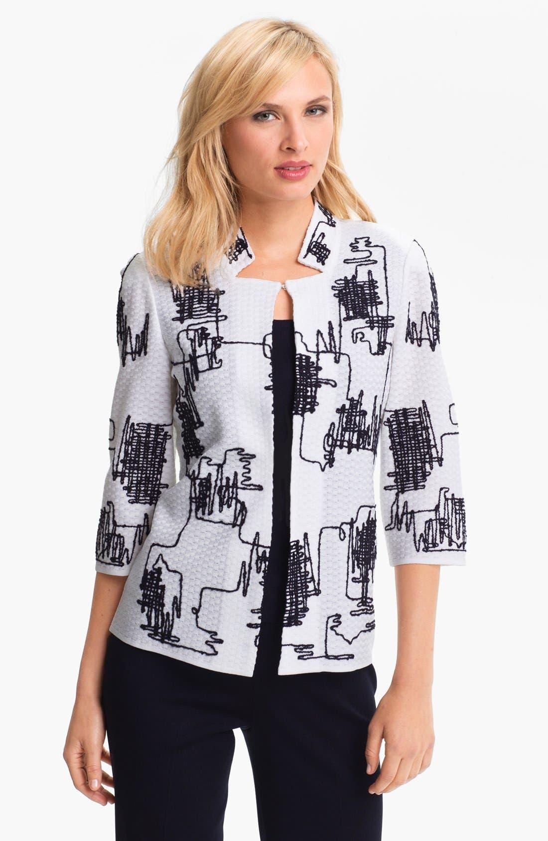 Main Image - Ming Wang Embroidered Jacket
