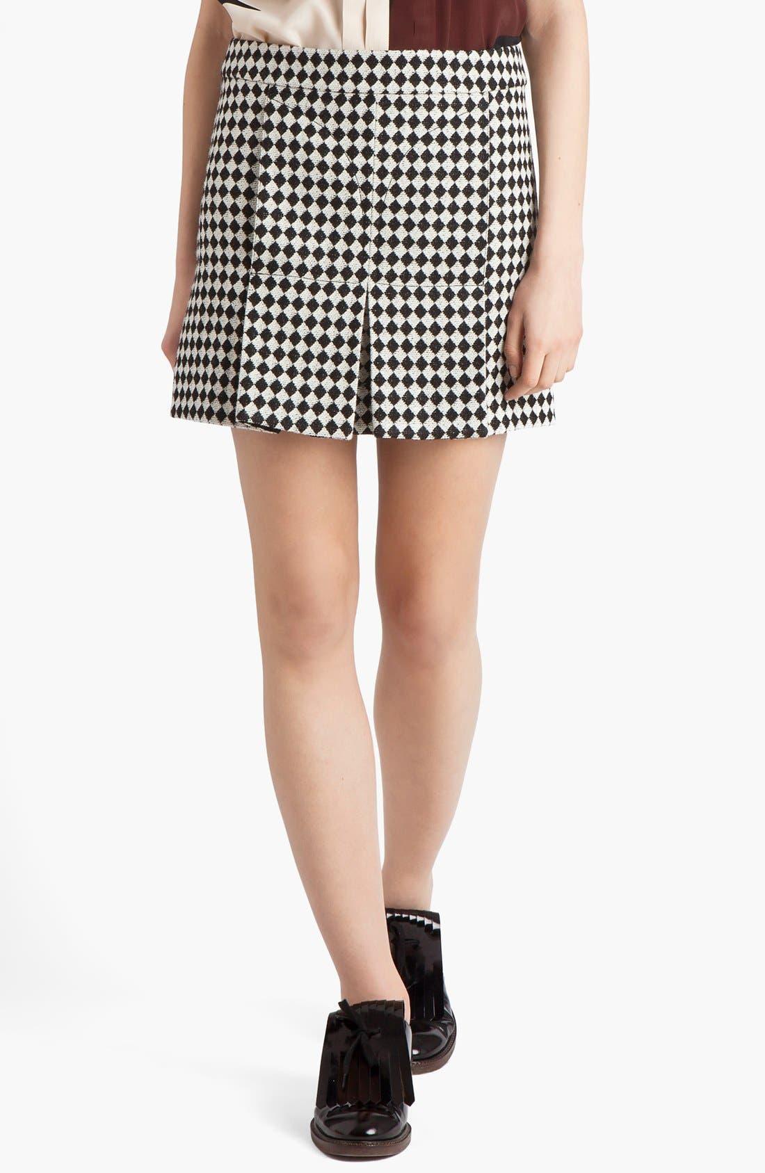 Alternate Image 1 Selected - Marni Checkerboard Jacquard Miniskirt