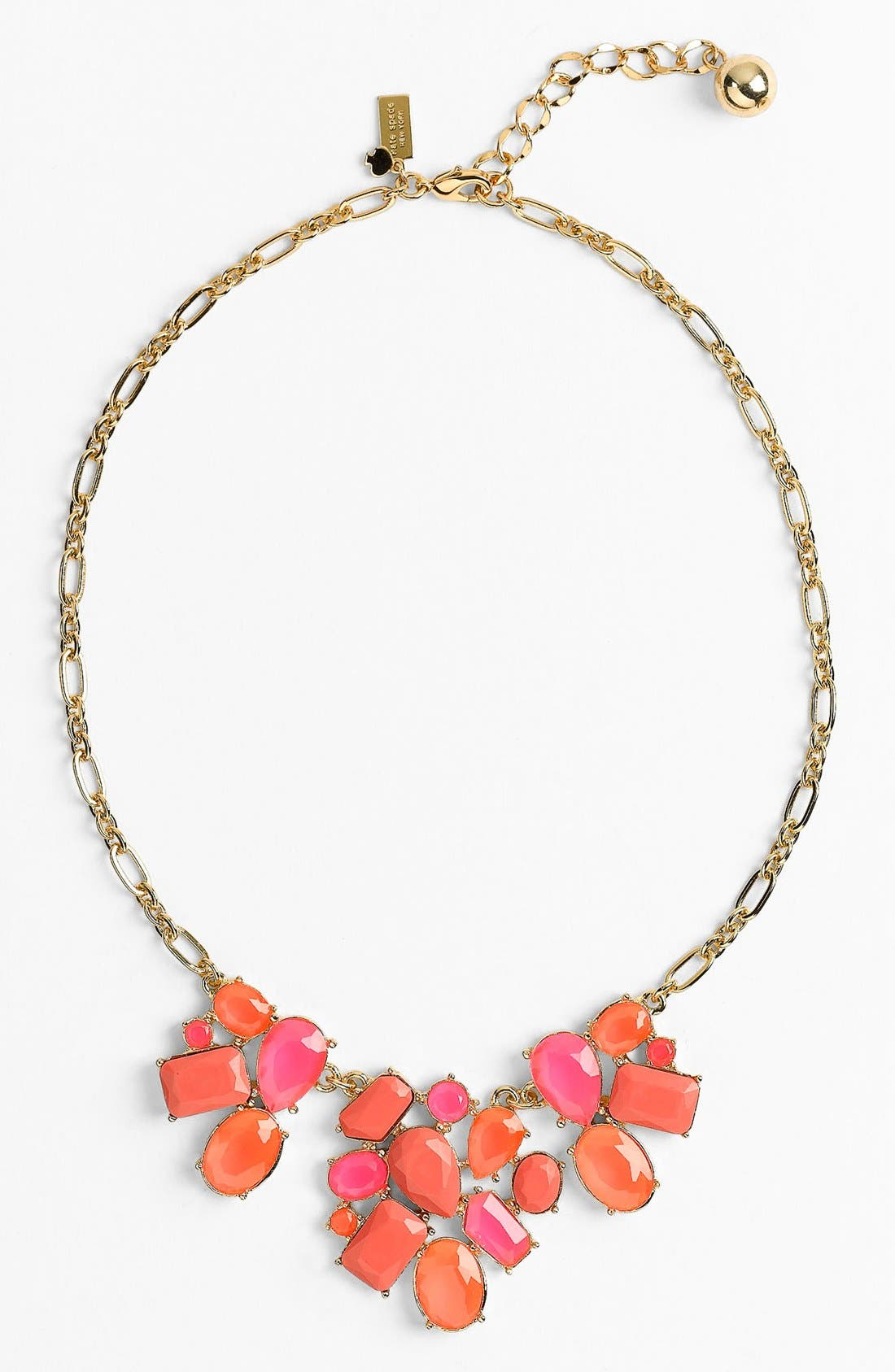 Main Image - kate spade new york 'crystal fiesta' stone bib necklace