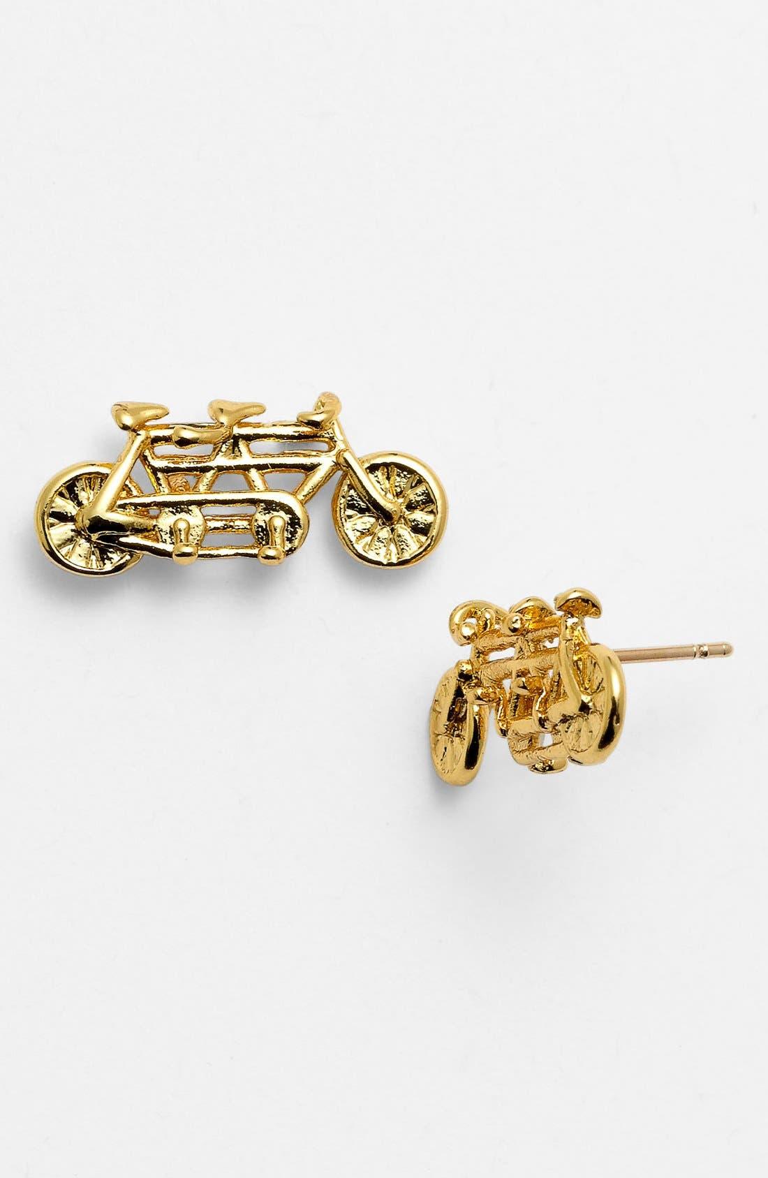 Alternate Image 1 Selected - kate spade new york 'in tandem' bike stud earrings