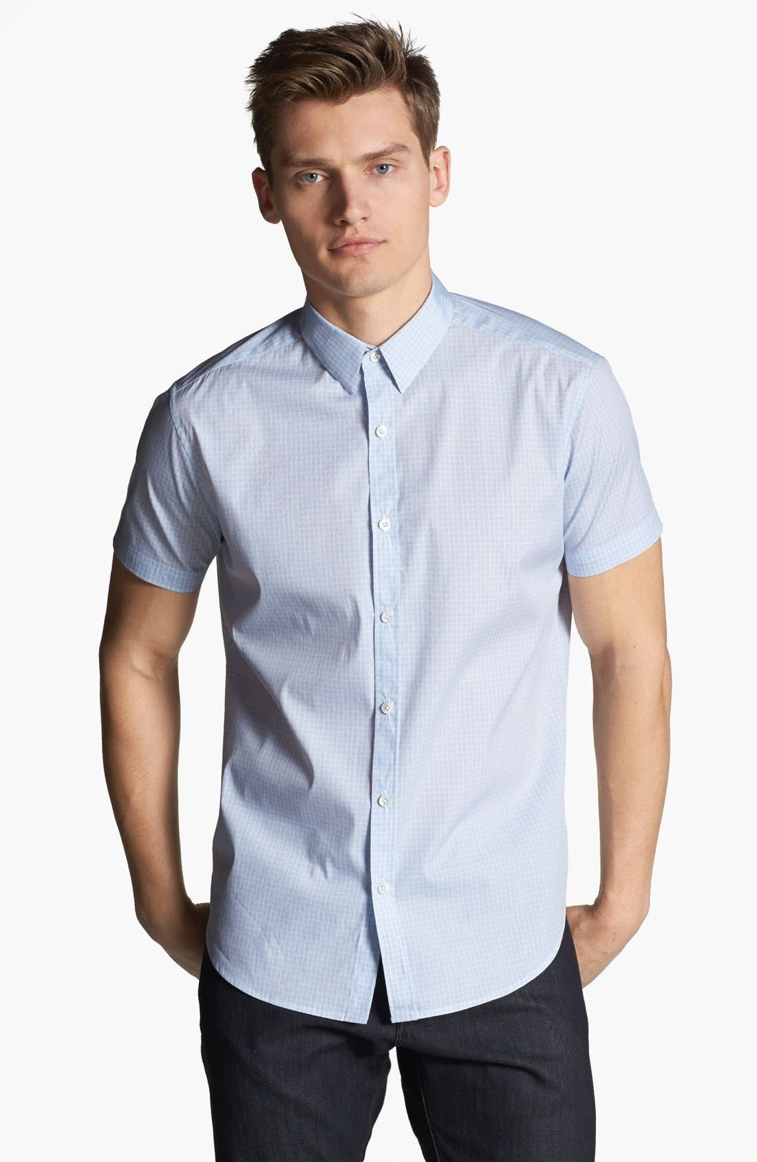 Alternate Image 1 Selected - Theory 'Frasir Zack' Short Sleeve Sport Shirt