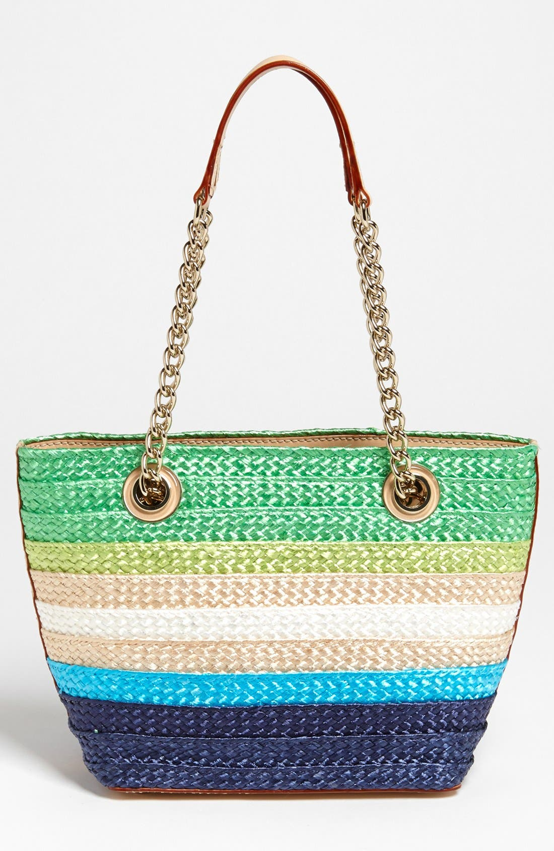 Alternate Image 4  - kate spade new york 'chelsea market - mini coal' straw tote