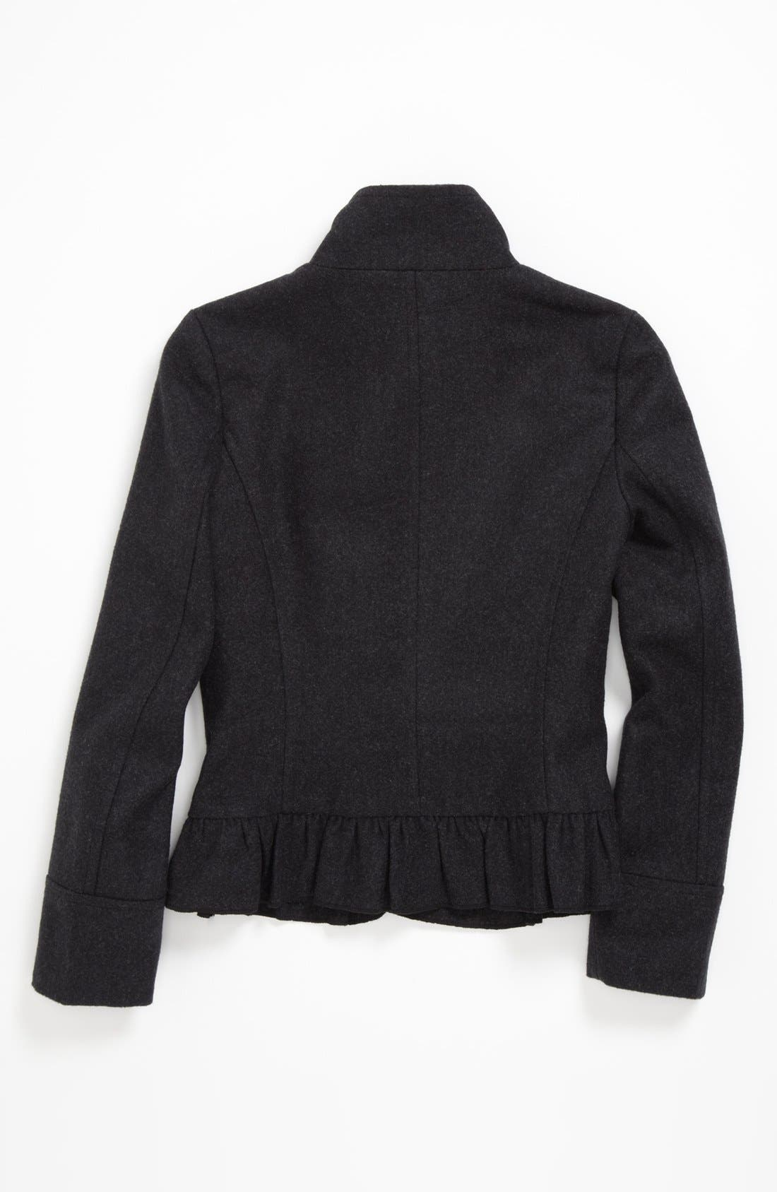 Alternate Image 2  - Collection B Ruffle Coat (Big Girls) (Online Only)