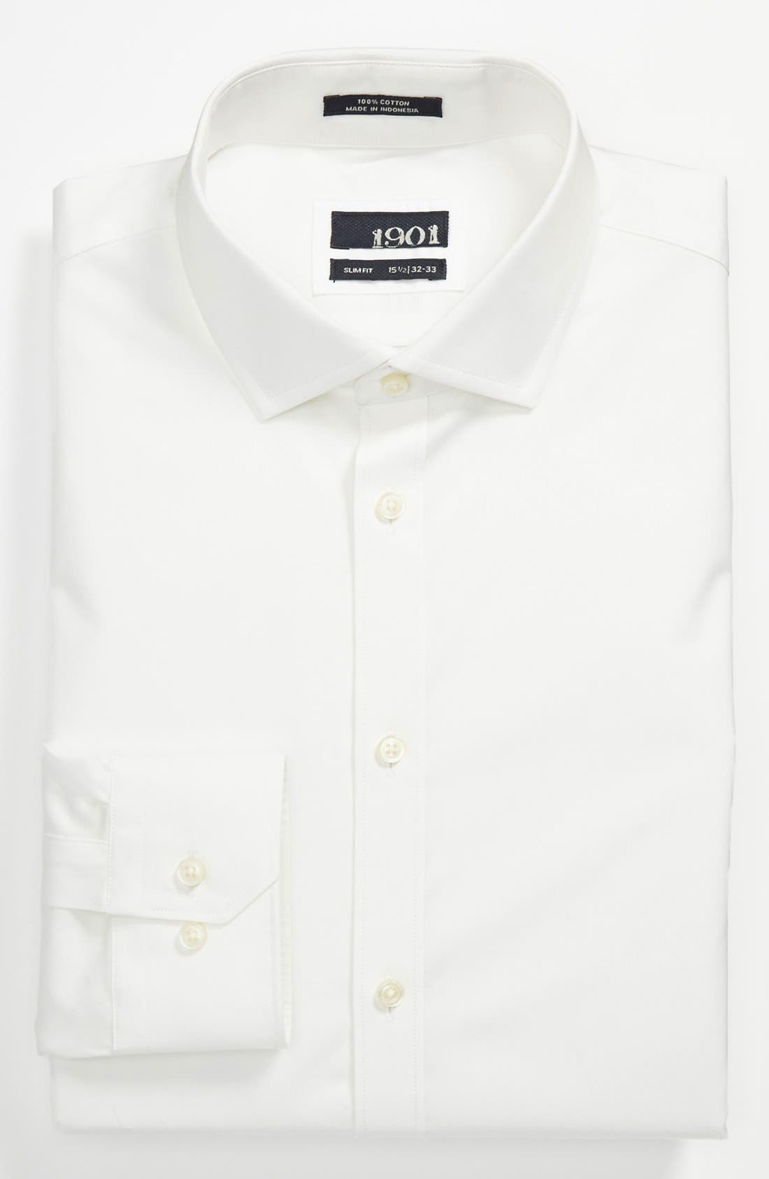 Alternate Image 1 Selected - 1901 Slim Fit Cotton Dress Shirt