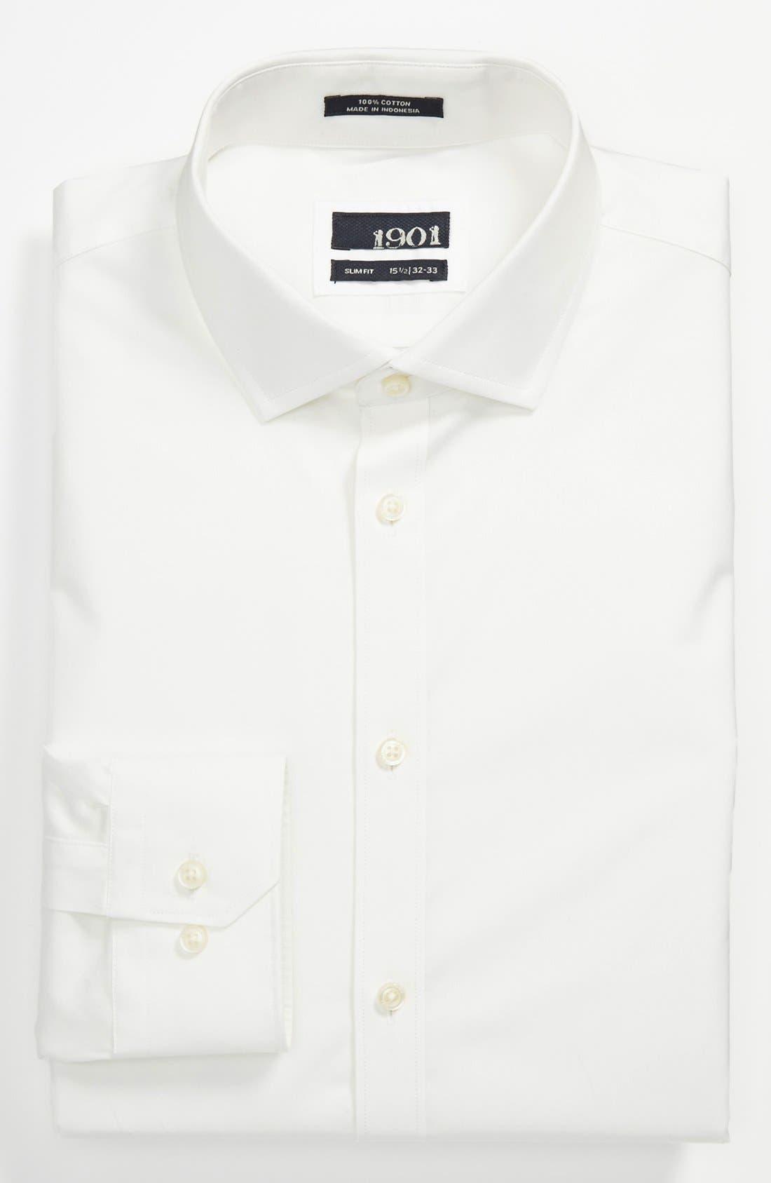 Main Image - 1901 Slim Fit Cotton Dress Shirt
