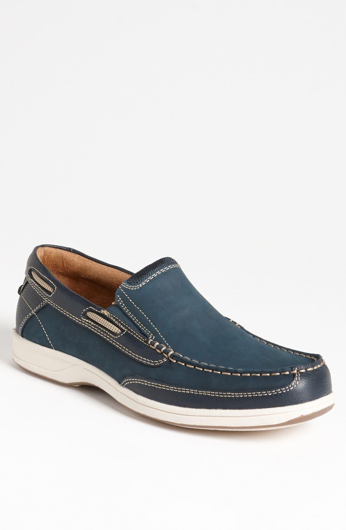 'Lakeside' Slip-On,                         Main,                         color, Navy Nubuck