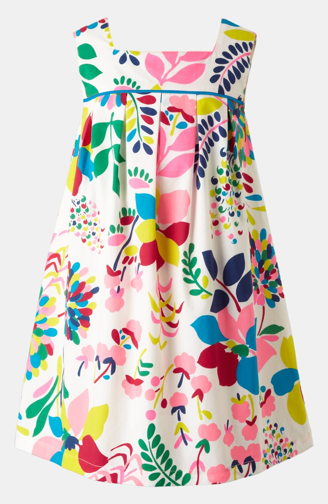 Main Image - Mini Boden Pleated Print Dress (Toddler)