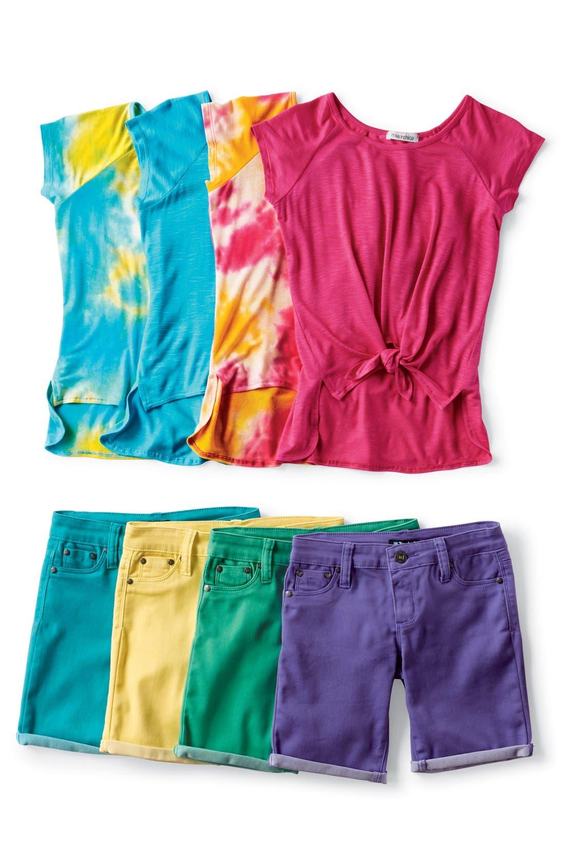 Alternate Image 2  - Mia Chica Tie Dye Top (Big Girls)