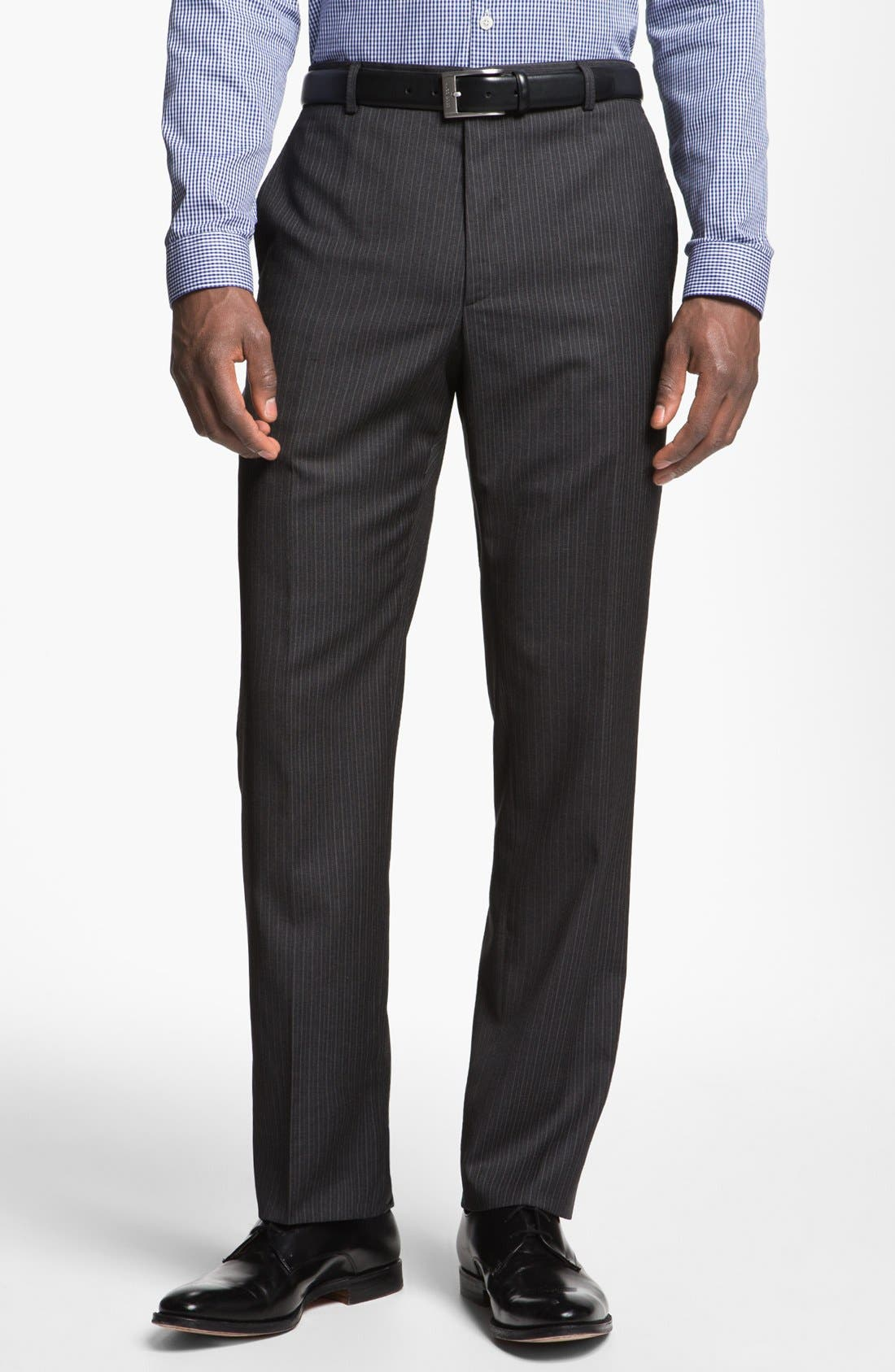 Alternate Image 5  - Paul Smith London Slim Fit Shadow Pinstripe Wool Suit