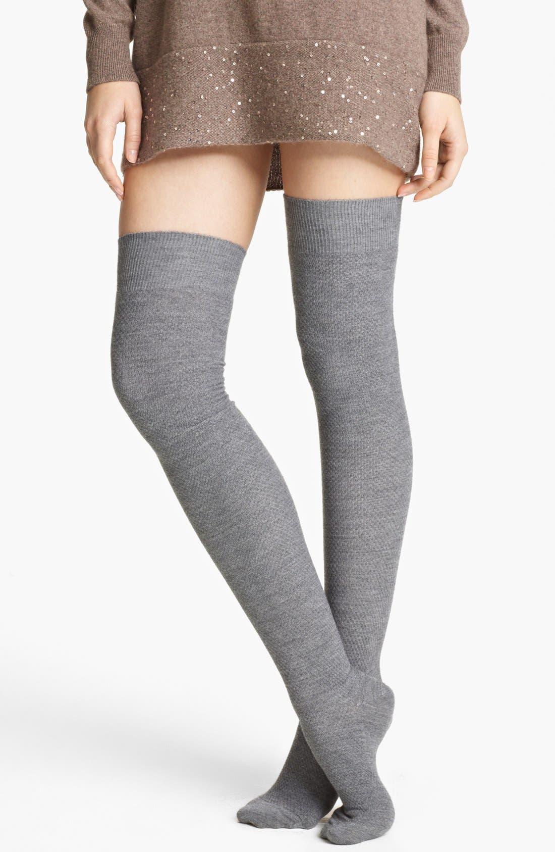 Alternate Image 1 Selected - Fabiana Filippi Thigh High Waffle Knit Tights