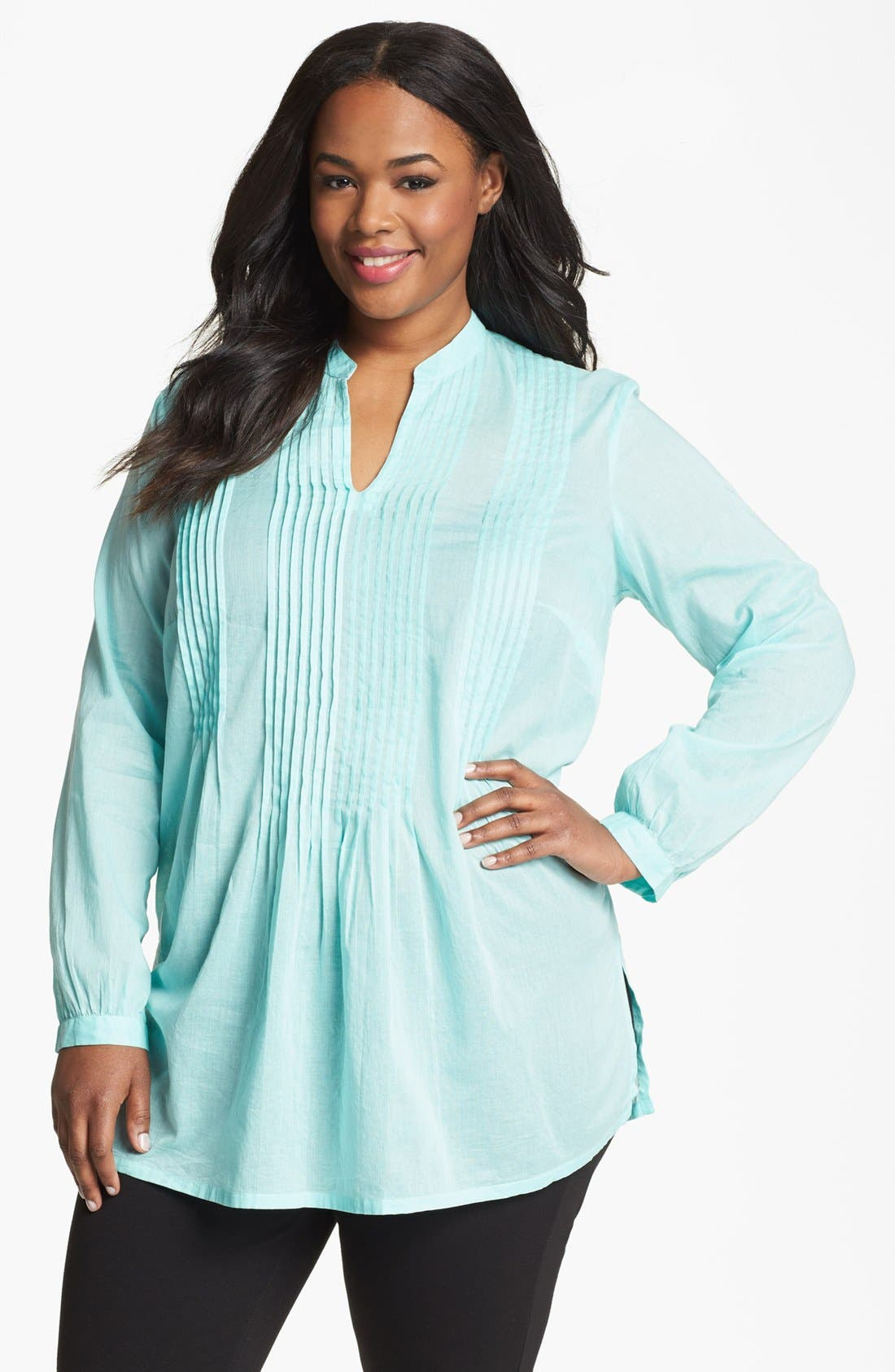 Alternate Image 1 Selected - MICHAEL Michael Kors Pintuck Tunic (Plus Size)