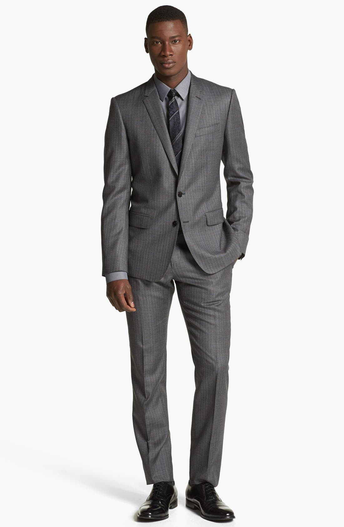 Alternate Image 1 Selected - Dolce&Gabbana 'Martini' Herringbone Wool Suit