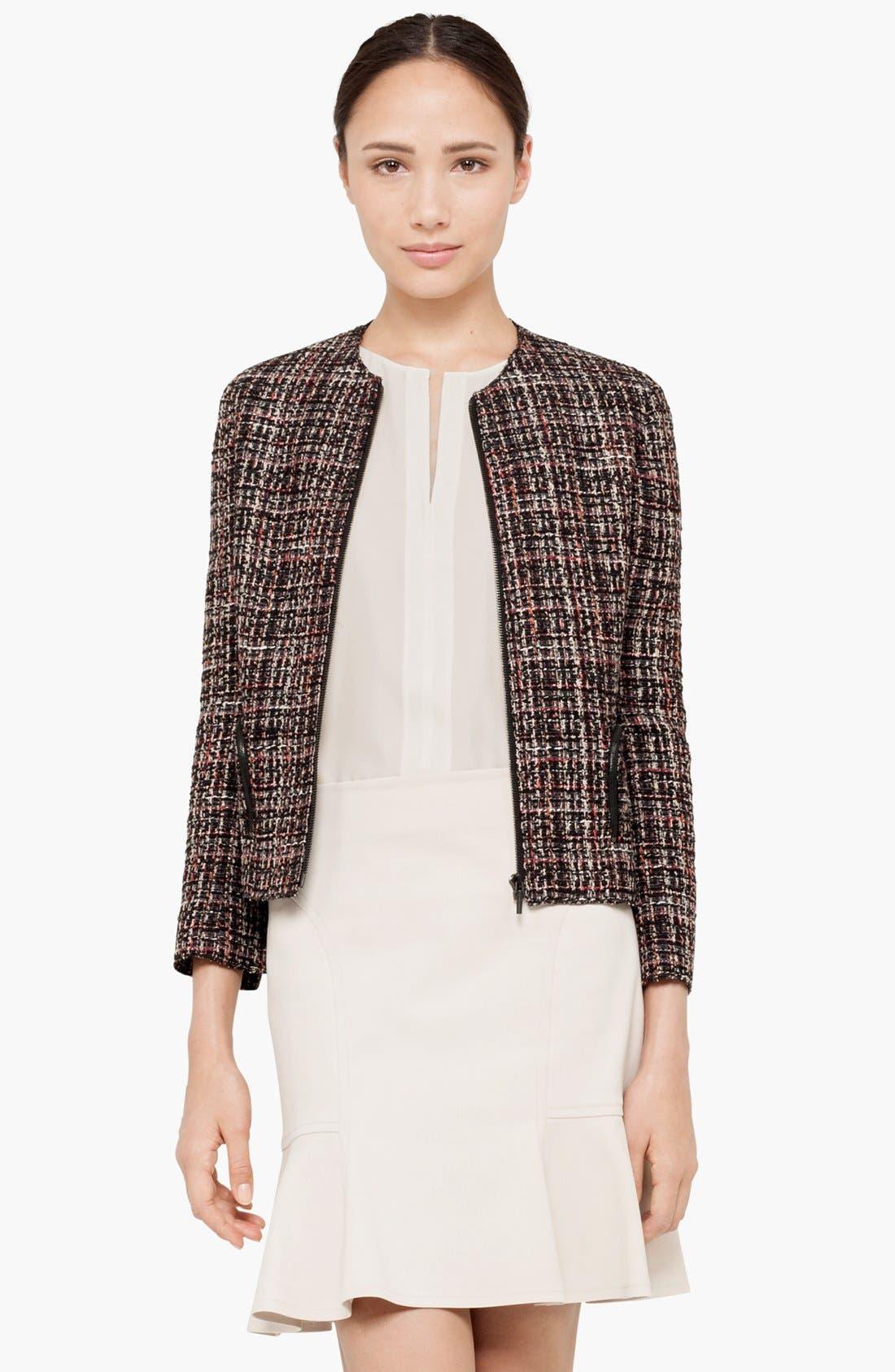 Main Image - Akris punto Zip Front Bouclé Jacket