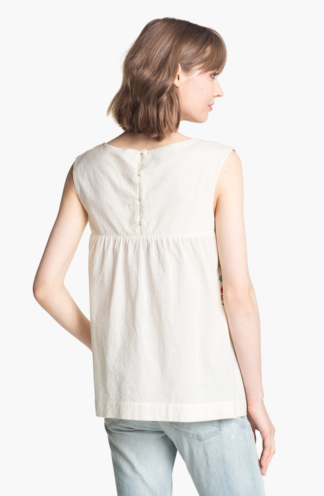 Alternate Image 2  - Willow & Clay Embroidered Peasant Tank