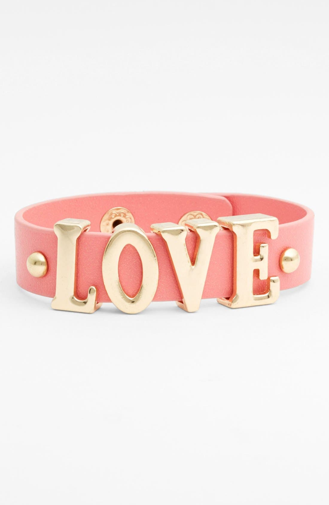 Alternate Image 1 Selected - Carole 'Love' Wrap Bracelet (Juniors) (Online Only)