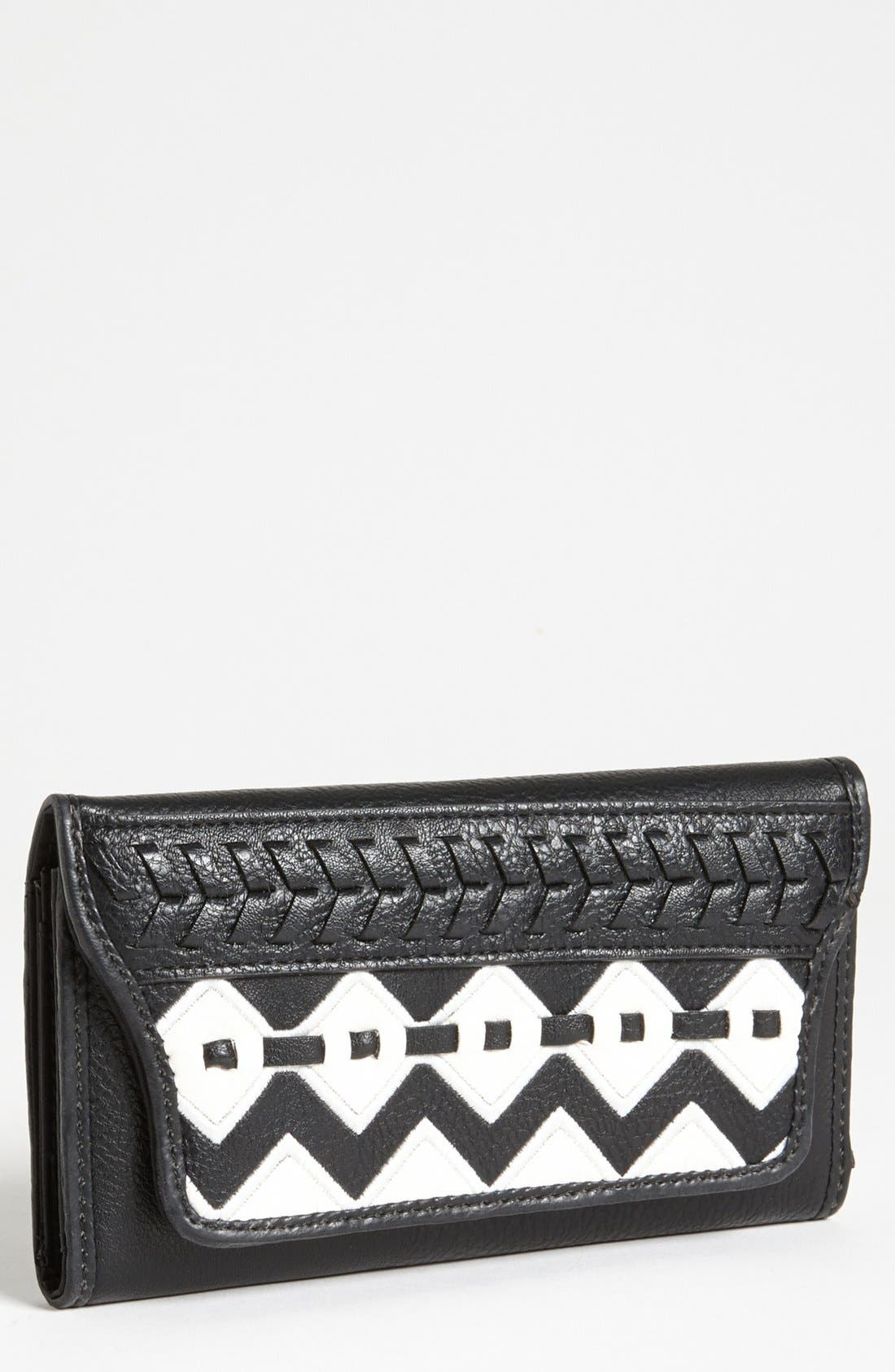 Main Image - Jessica Simpson 'Somali' Faux Leather Checkbook Wallet
