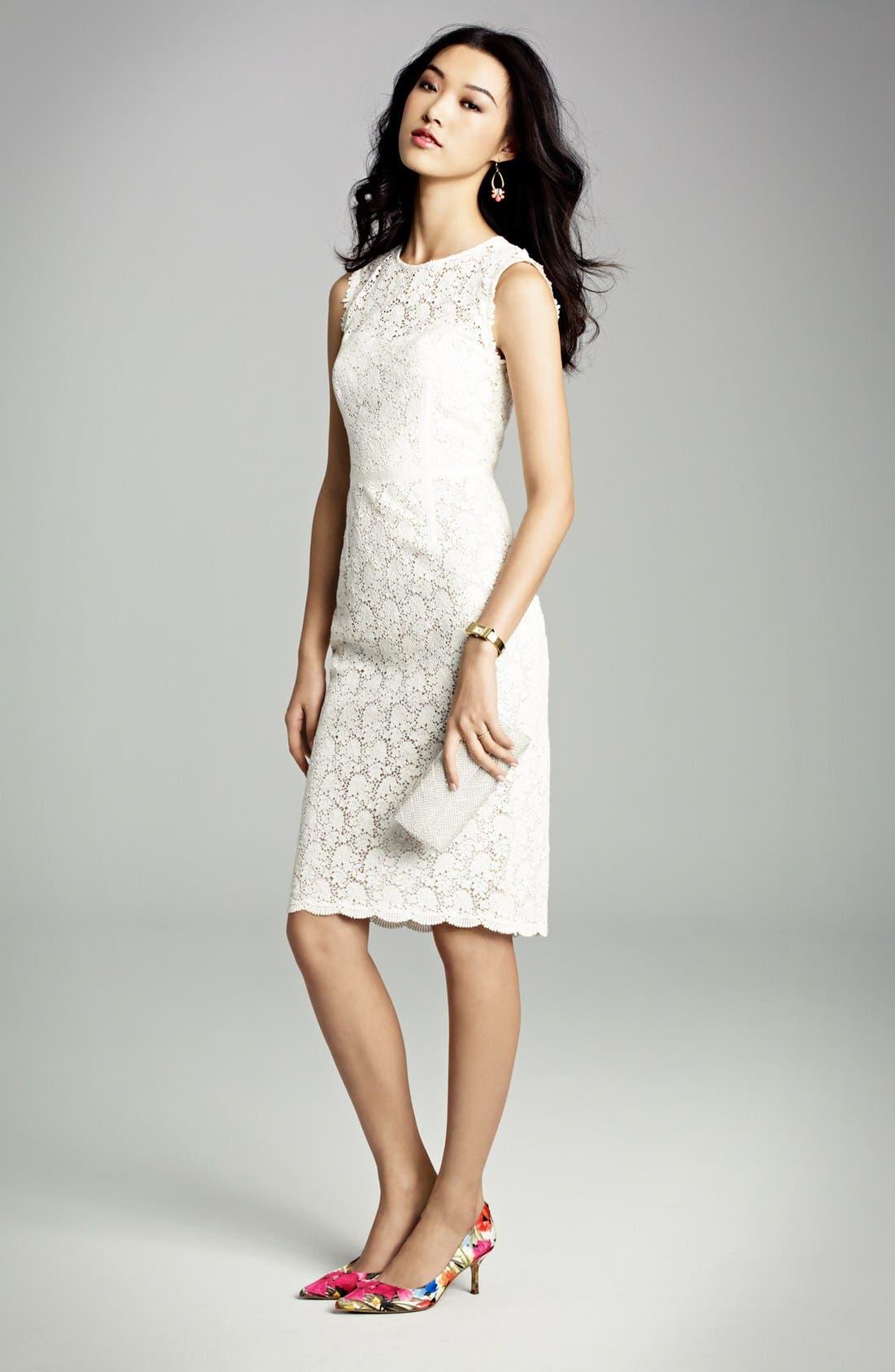 Alternate Image 3  - Jill Jill Stuart Illusion Yoke Lace Sheath Dress