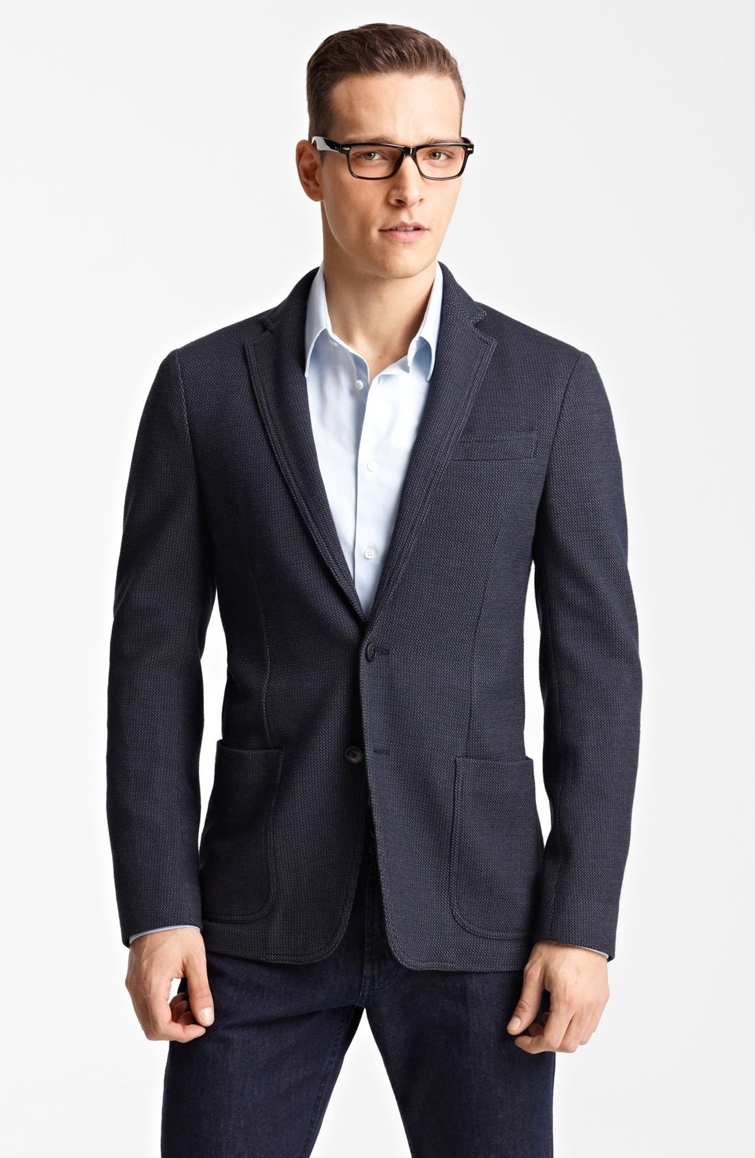Alternate Image 1 Selected - Armani Collezioni 'Linea' Tic Weave Sportcoat