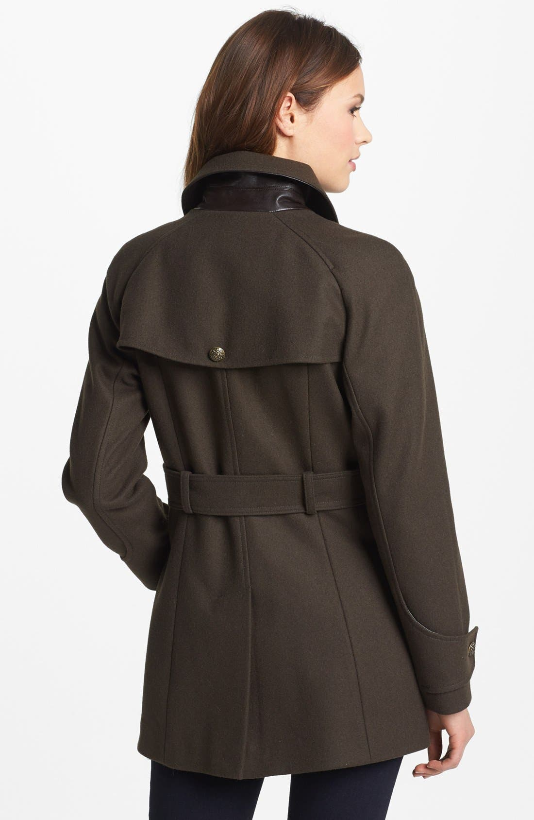 Alternate Image 3  - DKNY Double Breasted Military Peacoat