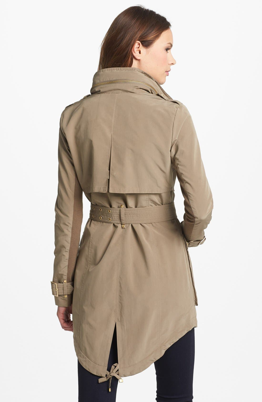 Alternate Image 2  - BCBGMAXAZRIA Asymmetrical Zip Belted Anorak