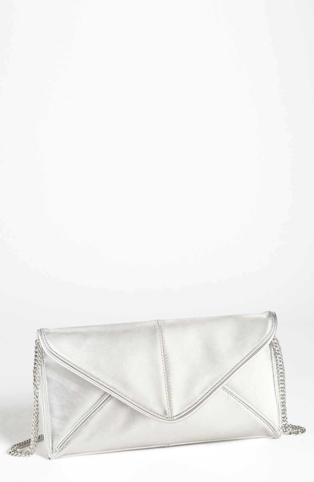 Main Image - Expressions NYC Faux Leather Envelope Clutch