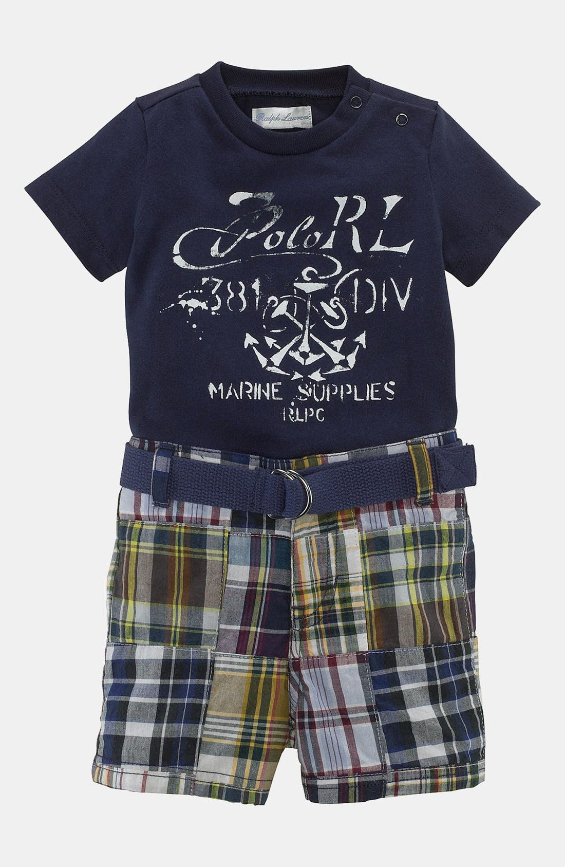 Alternate Image 1 Selected - Ralph Lauren T-Shirt & Shorts (Baby Boys)
