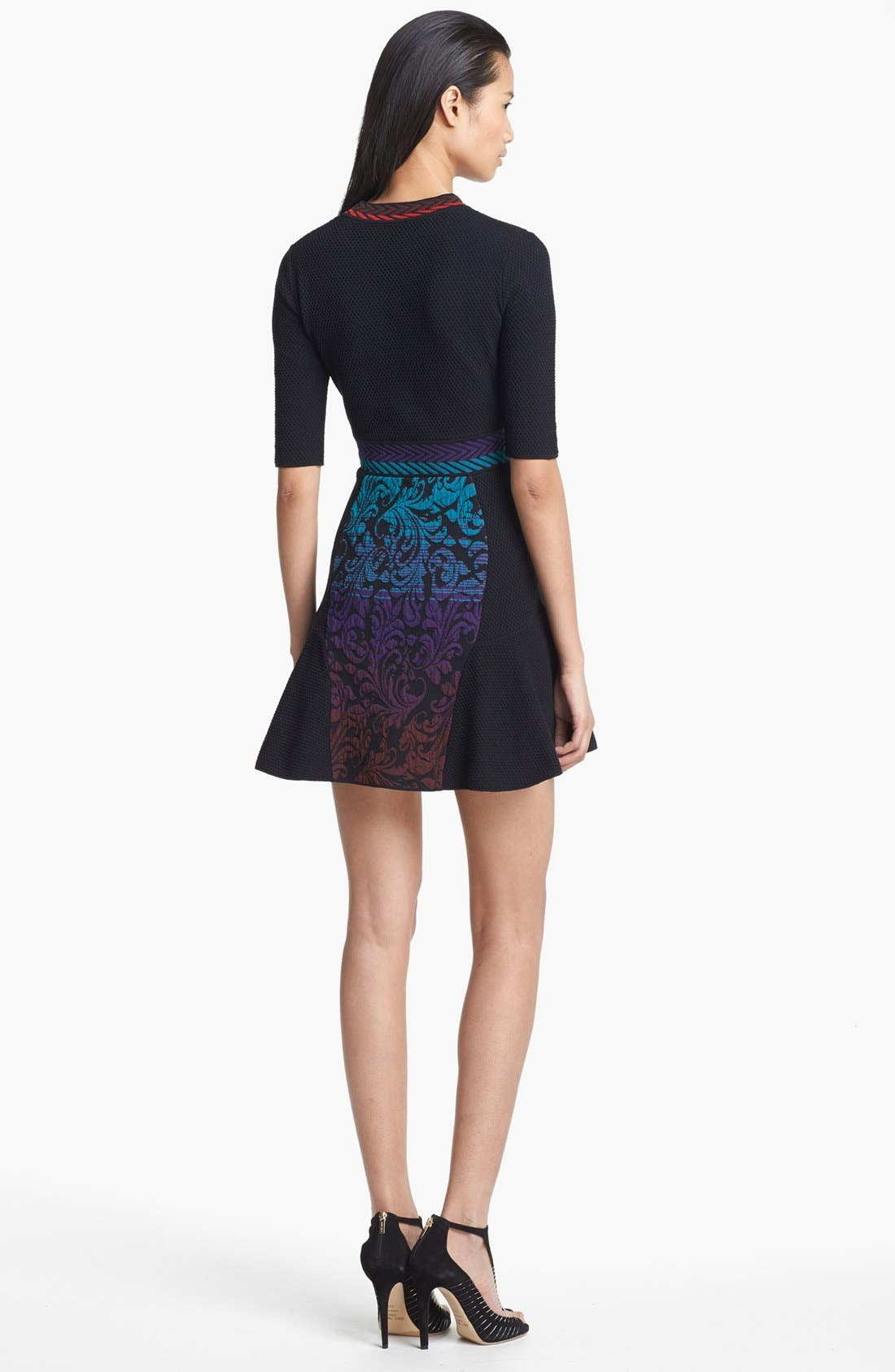 Alternate Image 2  - M Missoni Brocade Intarsia Knit Dress