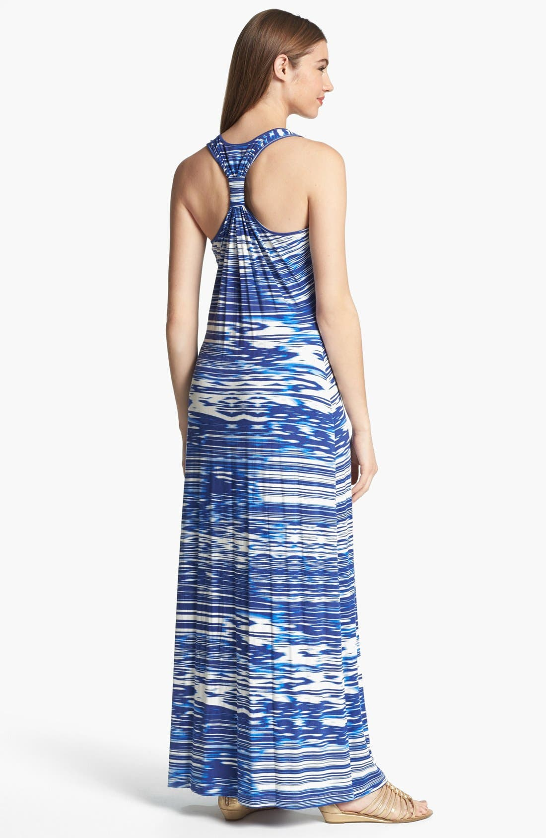 Alternate Image 2  - Calvin Klein Racerback Knit Maxi Dress